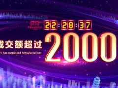 """2018天猫""""双11""""交易规模突破2000亿元"""